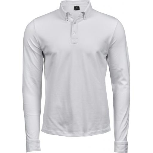 Men's Fashion Long Sleeve Luxury Stretch Polo