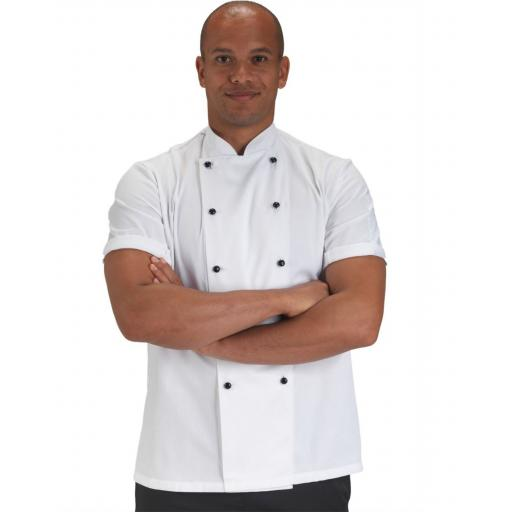 Removable Stud Short Sleeve Chef's Jacket