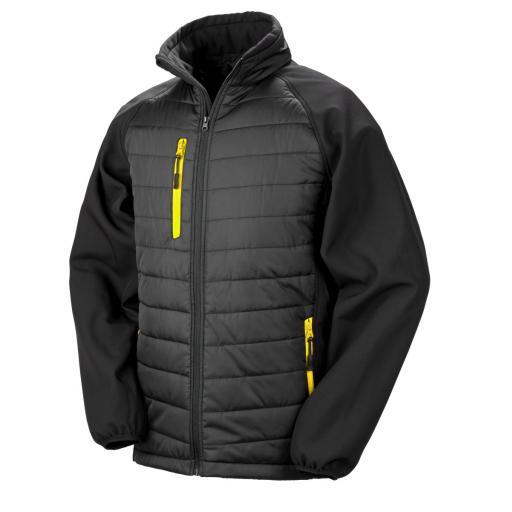 Black Compass Padded Softshell Jacket