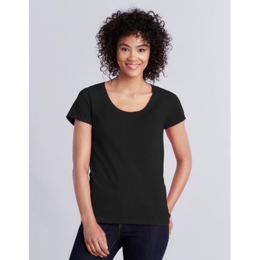 Softstyle® Ladies' Deep Scoop T-Shirt