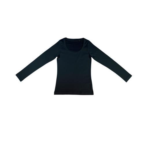 Women's 'Sheila' Organic Deep Round Long Sleeve T-Shirt