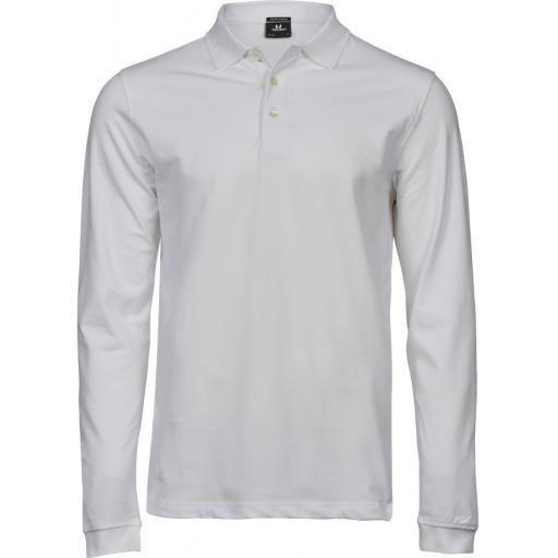 Men's Luxury Stretch Long Sleeve Polo