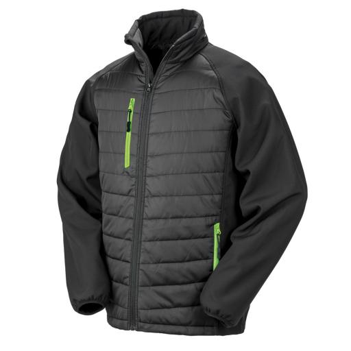 Black Compass Padded Softshell Jacket