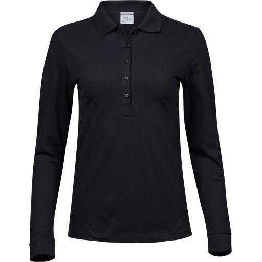 Ladies' Luxury Stretch Long Sleeve Polo