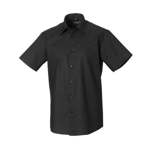 Men's Short Sleeve Easy Care Tailored Oxford Shirt