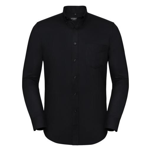 Men's Long Sleeve Tailored Button-Down Oxford Shirt