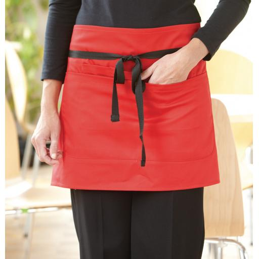 Short Bar Apron With Pocket