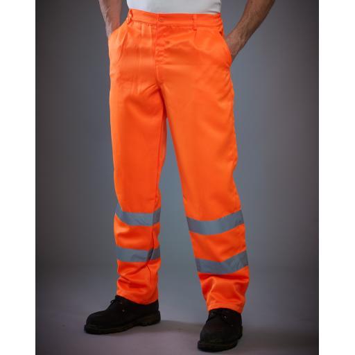 Hi-Vis Polycotton Work Trouser (Reg)